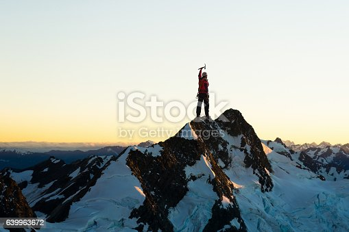 istock Extreme climbing is his adrenaline . Mixed media 639963672