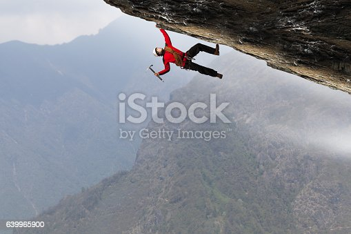 istock Extreme climbing is his adrenaline . Mixed media 639965900