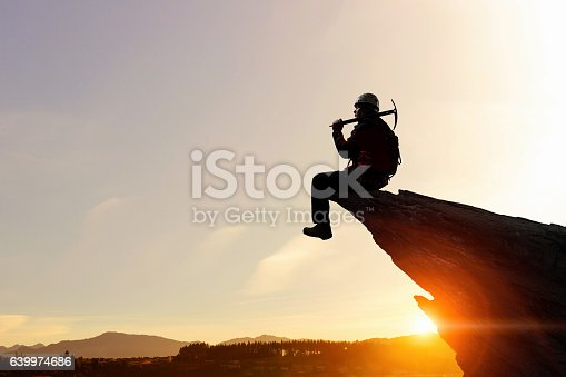 istock Extreme climbing is his adrenaline . Mixed media 639974686