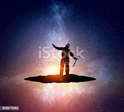 istock Extreme climbing is his adrenaline . Mixed media 639975360
