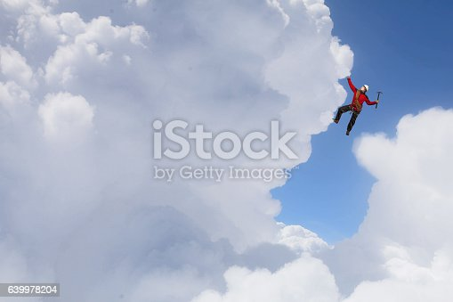 istock Extreme climbing is his adrenaline . Mixed media 639978204