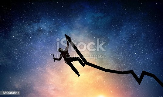 istock Extreme climbing is his adrenaline . Mixed media 639980544