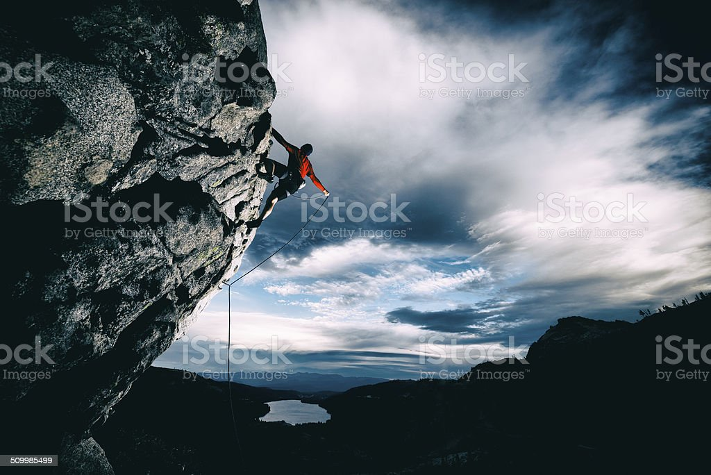 extreme climbing stock photo