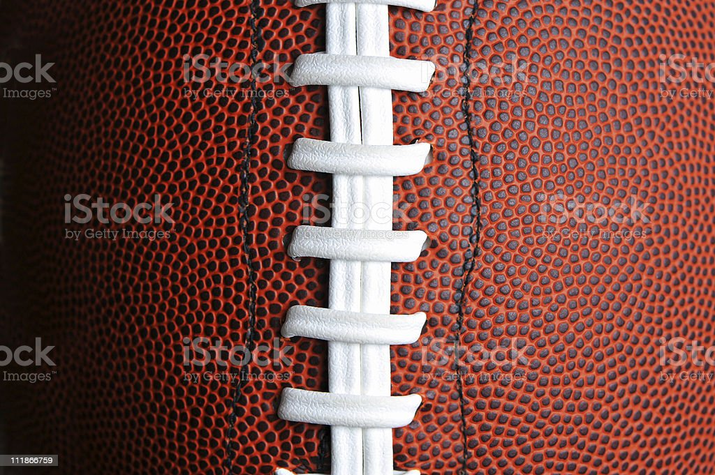 Extreme Close Up American Football Laces stock photo