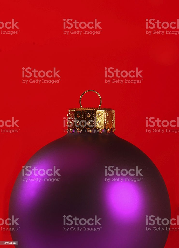 extreme close-up of a xmas ornament royalty-free stock photo