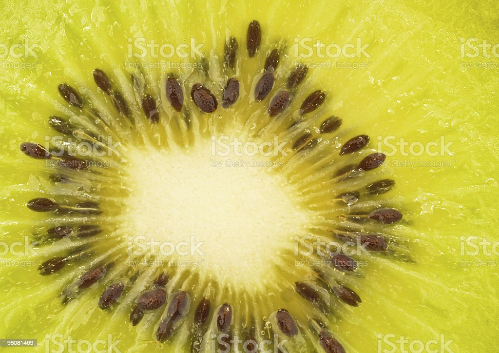Extreme closeup of kiwi fruit royalty-free stock photo