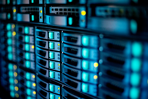 Extreme Close-up of Supercomputer.