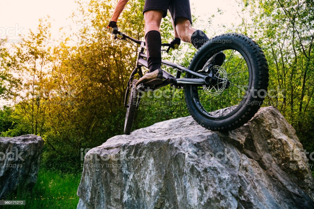 Extreme cyclism sport concept stock photo
