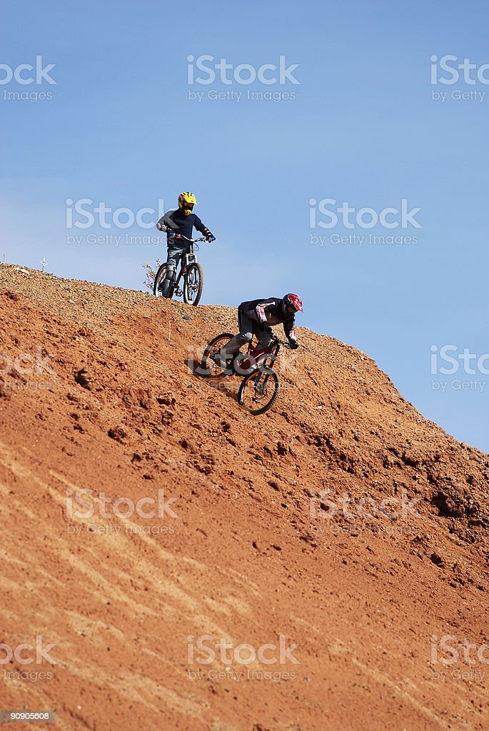 Extreme downhill royalty-free stock photo