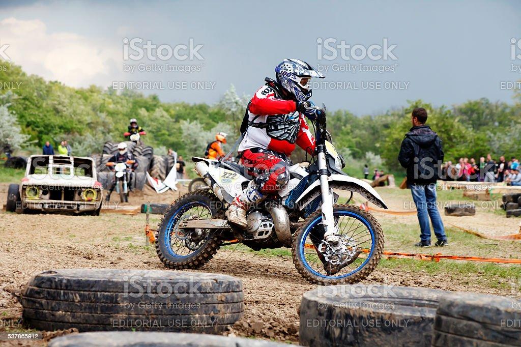 COUNTRY CROSS KTM , Extreme enduro MOTO SPORT Quad bikes stock photo
