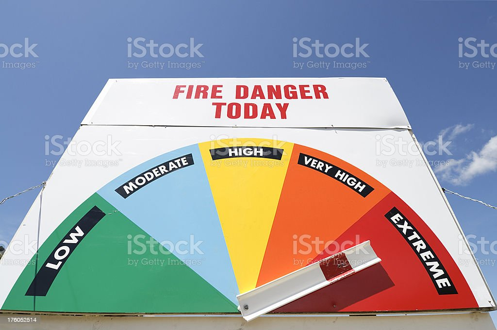 Extreme Fire Danger Sign stock photo