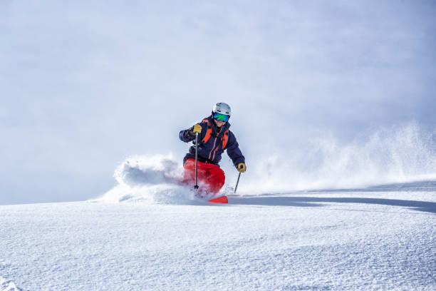 extreme free ride skiing - ski foto e immagini stock