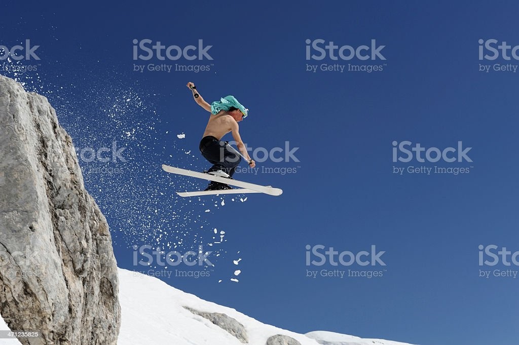 Extreme free riding royalty-free stock photo