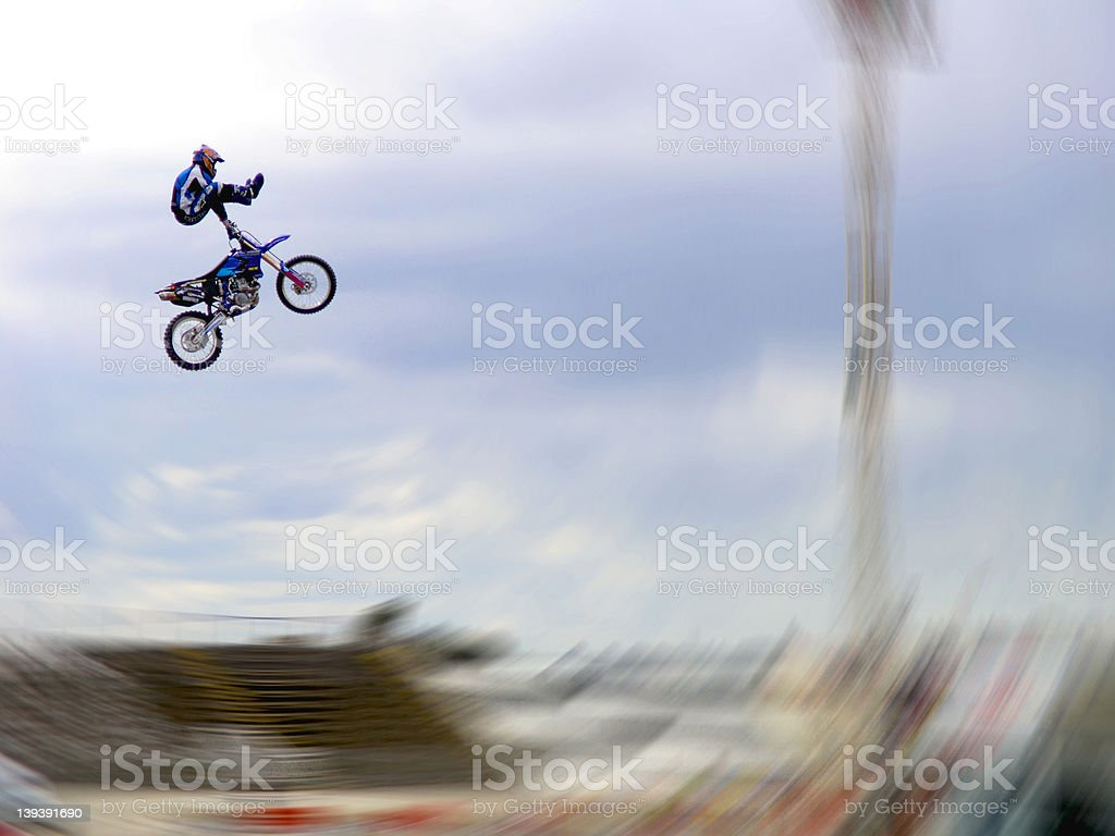 Extreme Freestyle Motorcross FMX stock photo