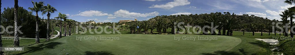Extreme Golf Panorama 2 royalty-free stock photo