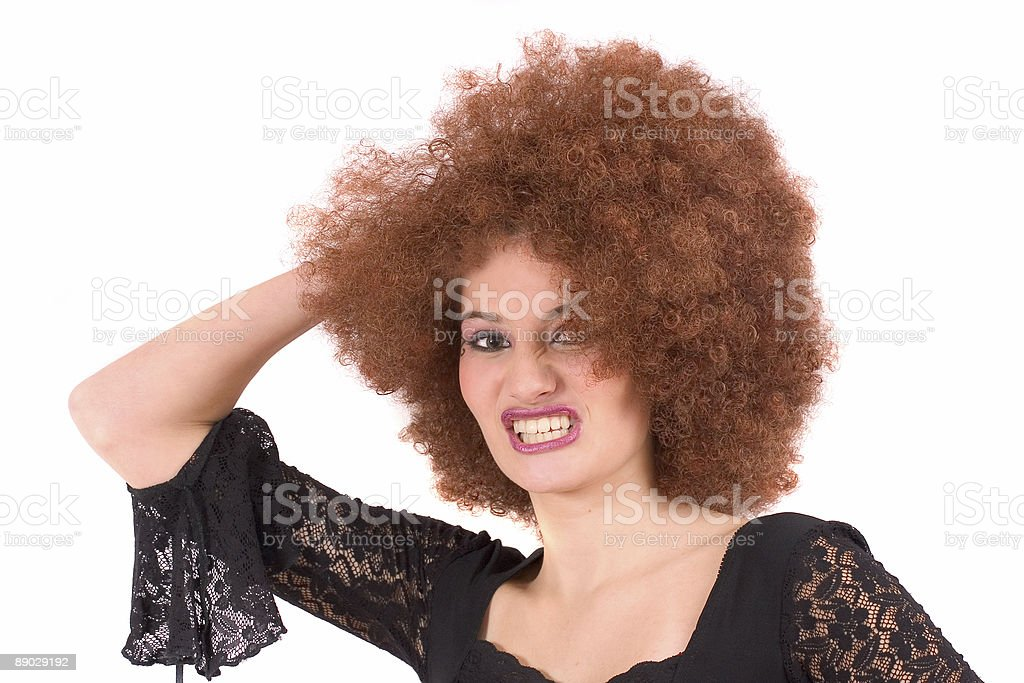 Extreme hair royalty-free stock photo