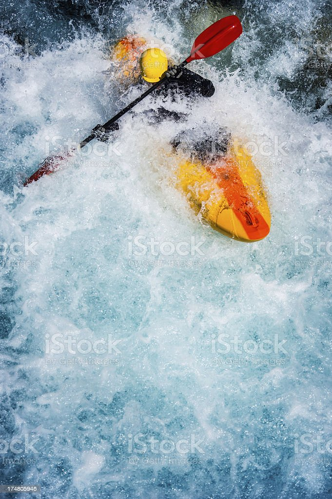 Extreme kayaking stock photo