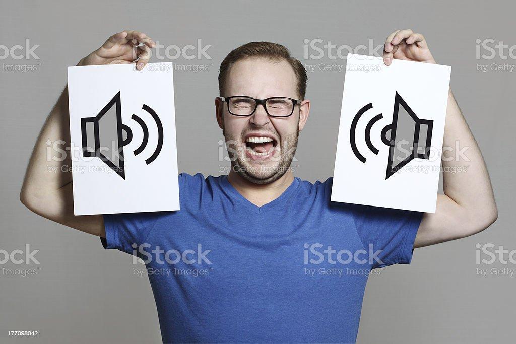 extreme loud stock photo