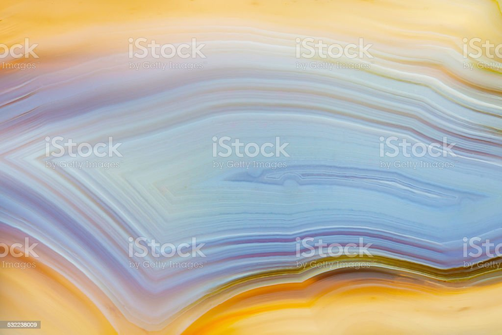 Extreme macro of blue and yellow agate mineral royalty-free stock photo