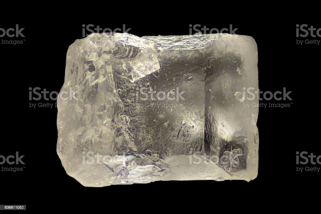 Extreme magnification - Sugar crystal at 20x stock photo