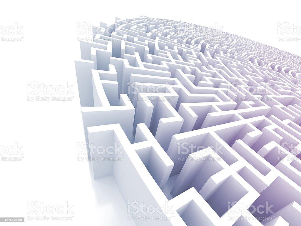 Extreme Maze stock photo