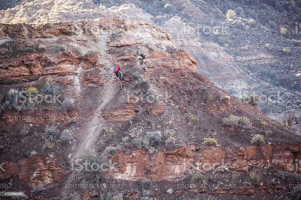 extreme mountain biking royalty-free stock photo