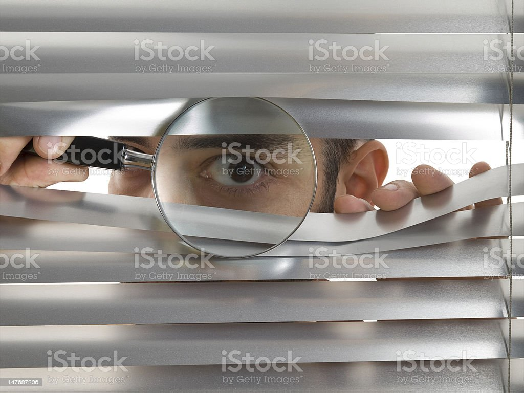 Extreme peeping Tom - Royalty-free Adult Stock Photo