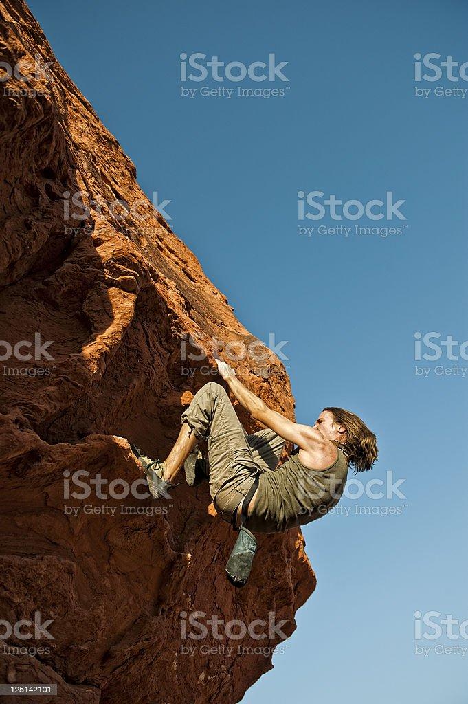 Extreme Rock Climber stock photo