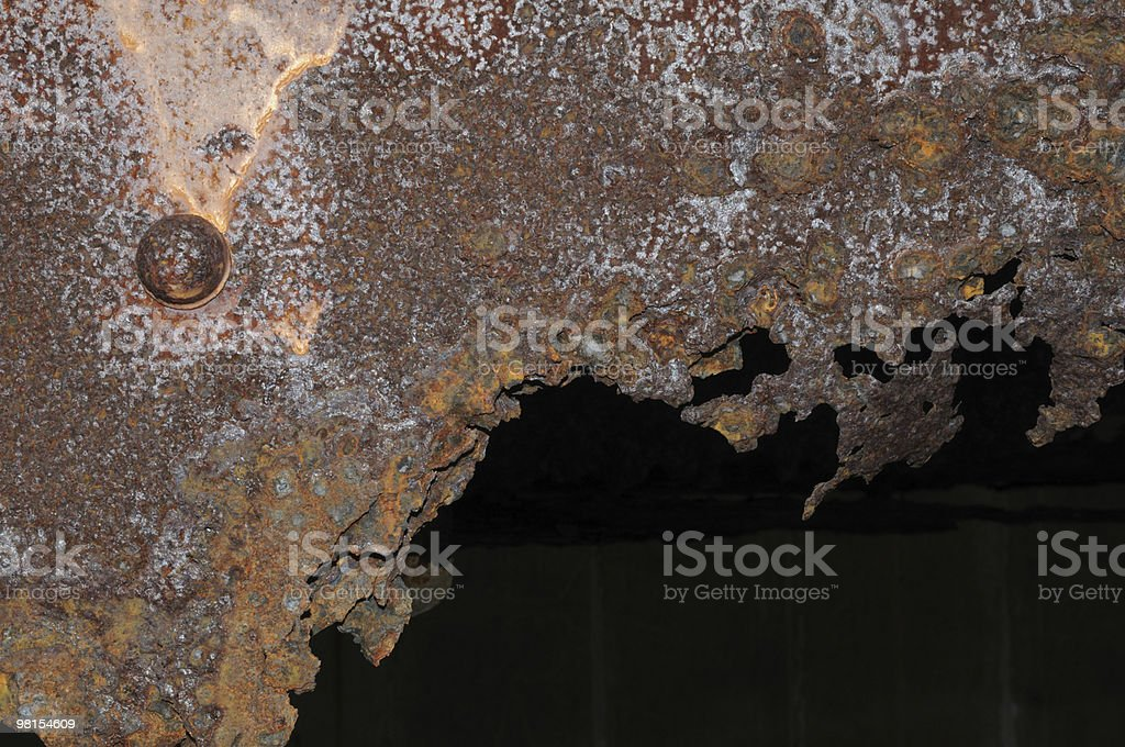 Extreme Rust Bridge I Beam & Bolt royalty-free stock photo