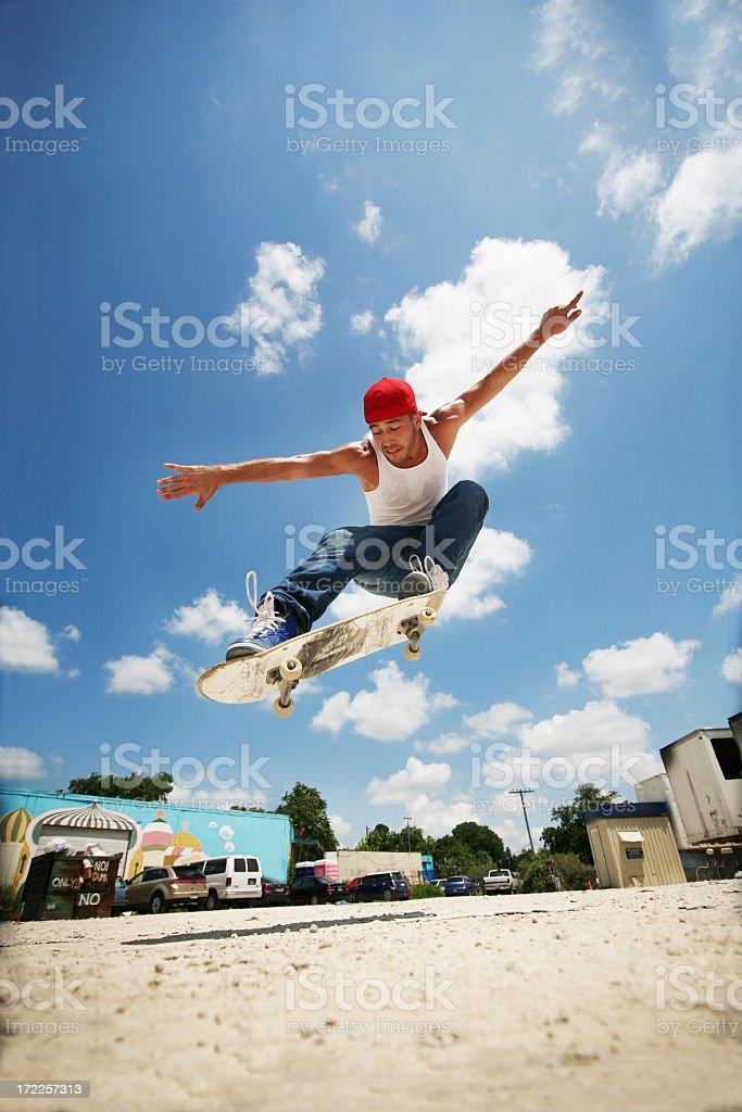 Extreme skateboarder royalty-free stock photo