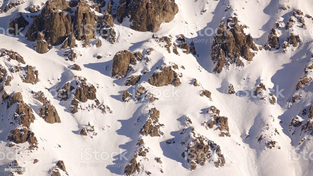 Extreme Ski Terrain stock photo