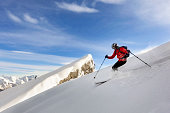 Skiing, Winter, Back Country Skiing, Downhill Skiing, Powder Snow