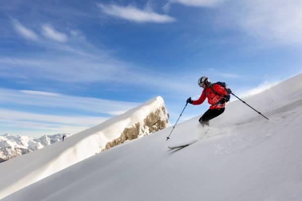 Extreme Skifahrer in Pulver-Schnee - Watzmann, Nationalpark Berchtesgaden - Alpen – Foto