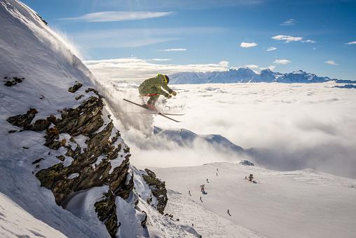 istock Extreme Skier in Verbier, Switzerland 920932594