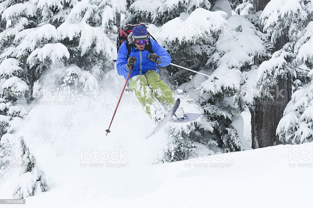 Extreme Skier stock photo