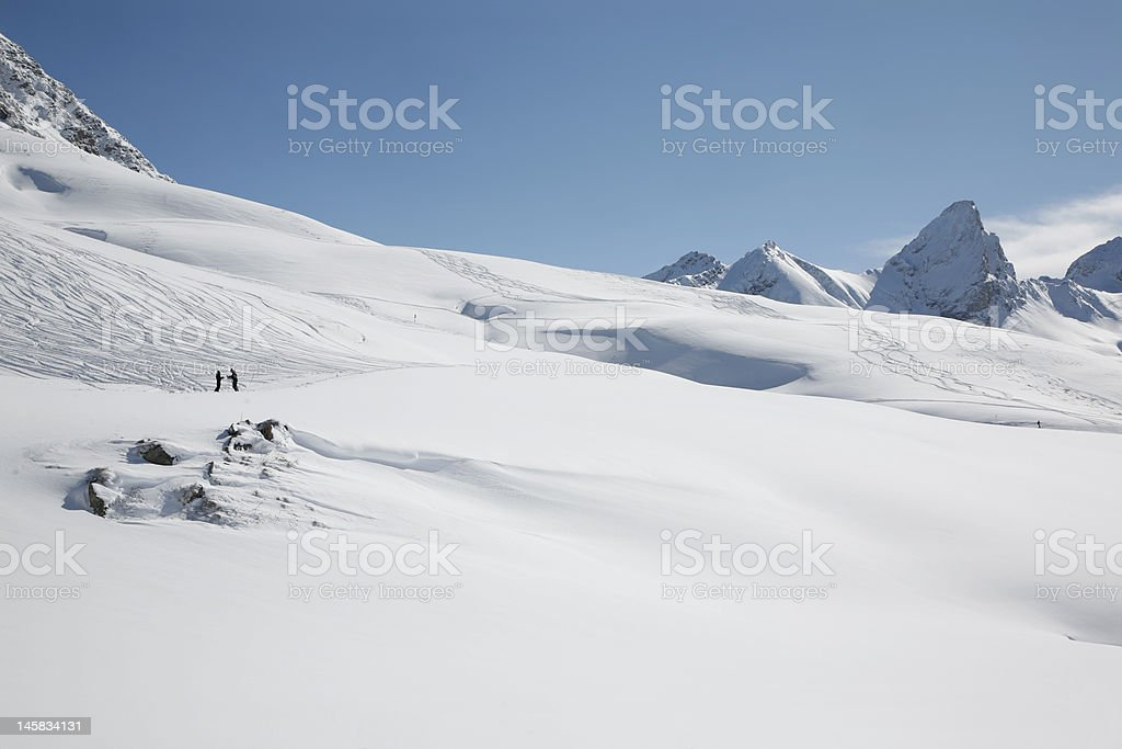 Extreme Skiing in the Austrian Alps royalty-free stock photo
