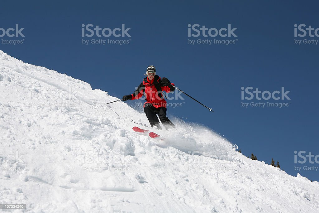 extreme skiing royalty-free stock photo