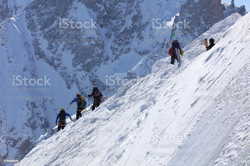 Extreme Skiing stock photo