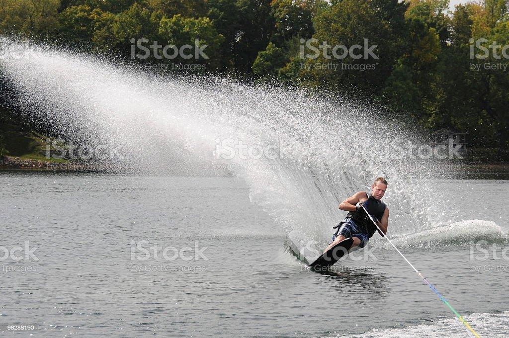Extreme 스키타기! royalty-free 스톡 사진