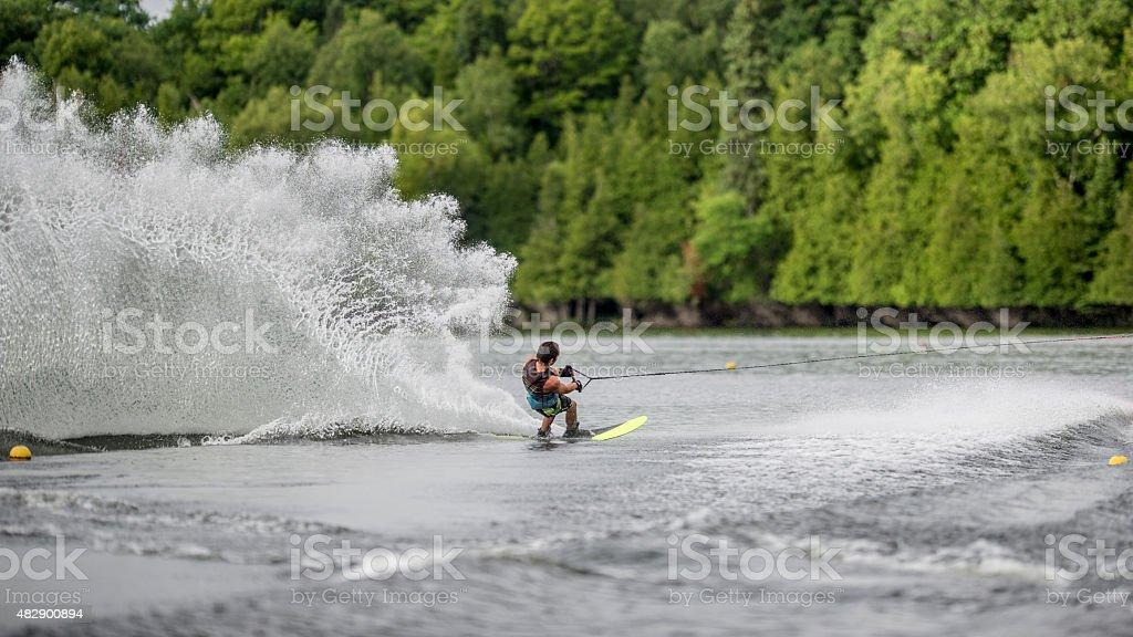 Extreme Slalom Skiing stock photo