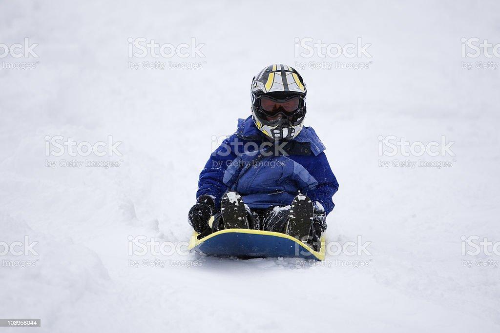 extreme sledding royalty-free stock photo