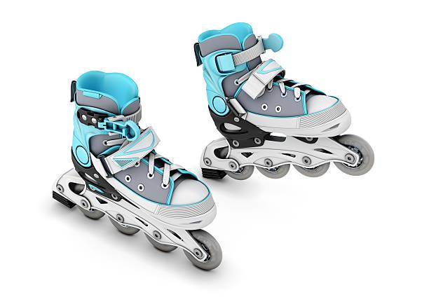 Extreme sport roller skates stock photo