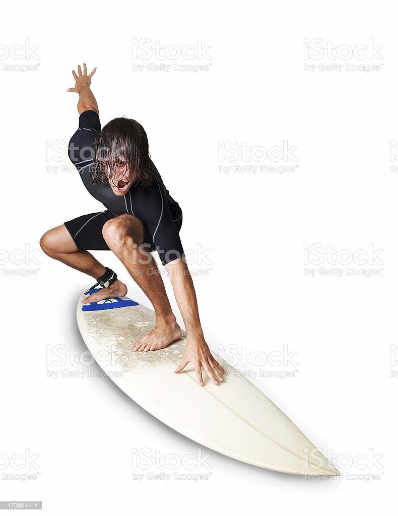 Extreme Surfer royalty-free stock photo