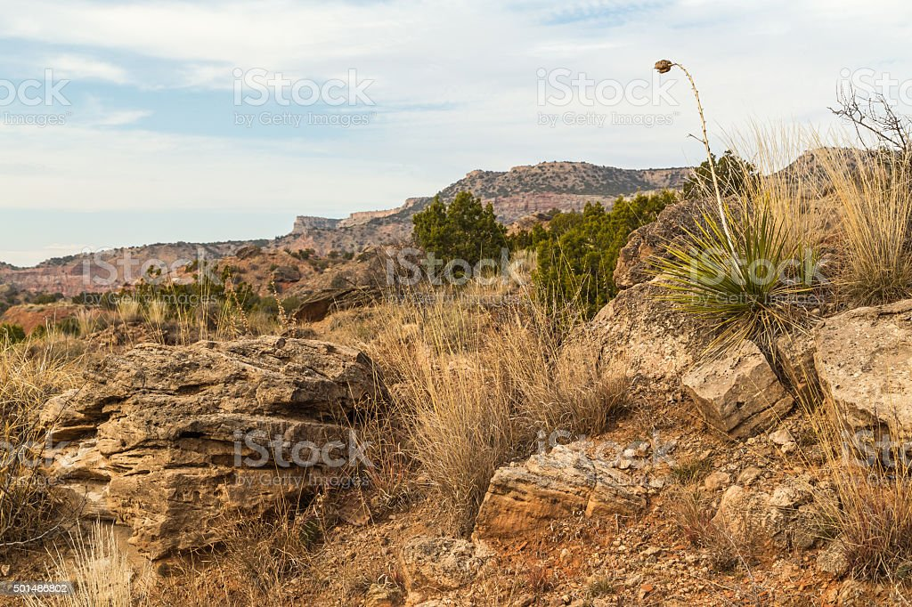 Extreme Terrain in Texas Panhandle stock photo