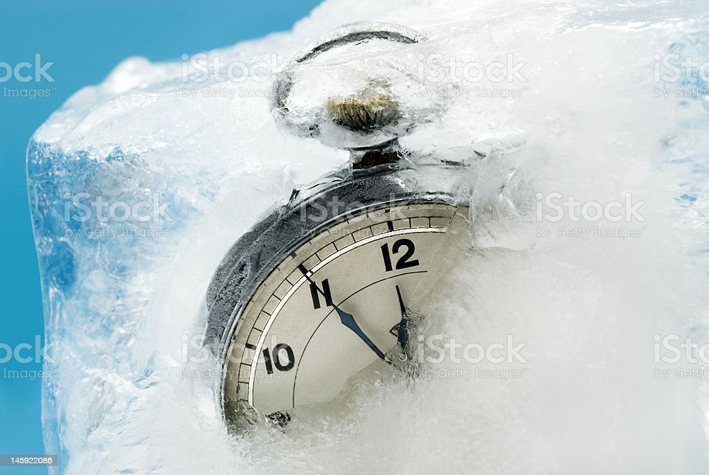 Extreme Weather Concepts - Frozen Time II royalty-free stock photo
