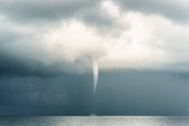 Extreme Weather : Typhoon Super Storm Tornado Cyclome Hurricane stock photo