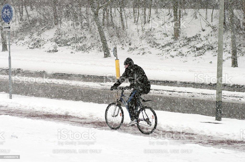 Extreme winter royalty-free stock photo