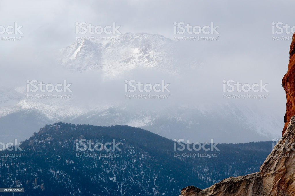 Extreme Winter Weather On Pikes Peak Stock Photo & More