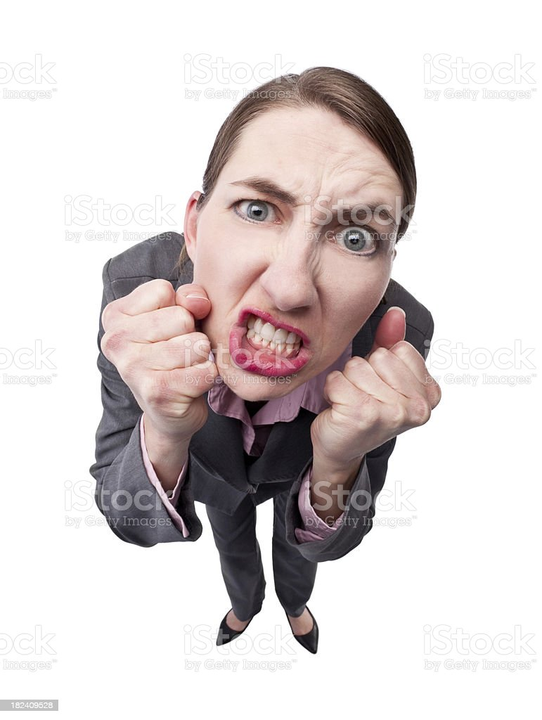 Extremely Angry Business Woman royalty-free stock photo