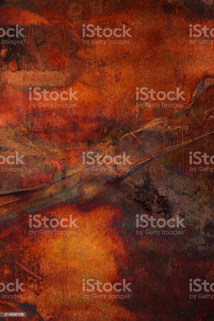 Extremely distressed rusted and corroded metal surface stock photo
